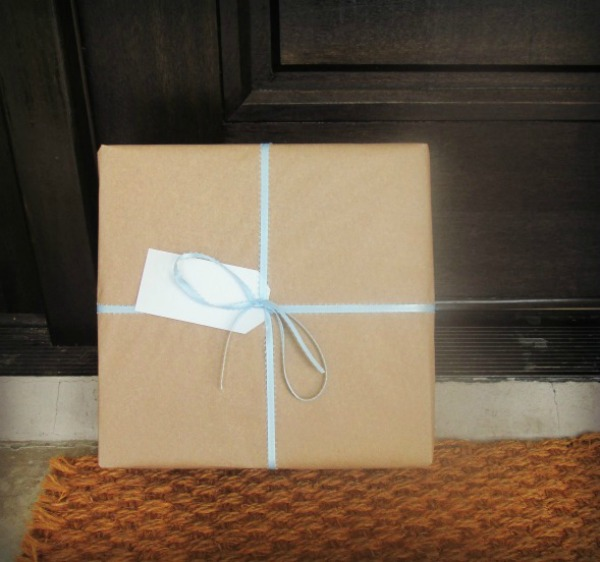 gift on doorstep