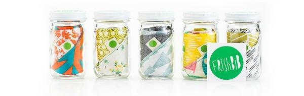 bibs in baby jar