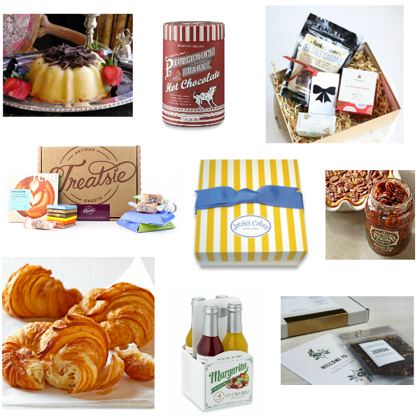 gourmet gift collage