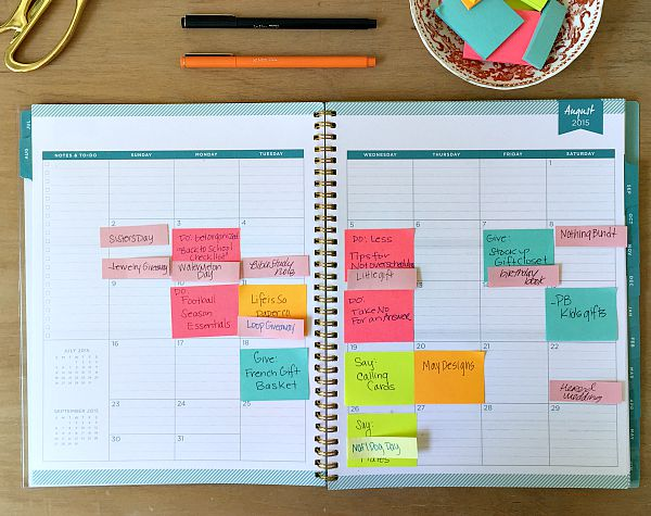 blog planning, day designer, whitney english