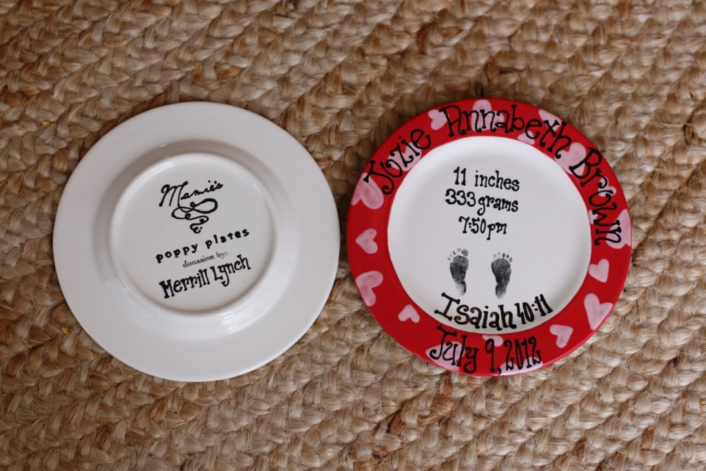 infant loss, stillbirth, gift for someone who lost a baby, mamie's poppy plates, how to help a friend who lost a baby