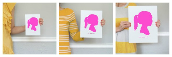 silhouette, minted wall art, silhouette art, wall minted art, personalized gift, holiday gift ideas, personalized holiday gift