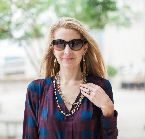 neely phelan, dallas blogger, dosaygive, tassel earrings