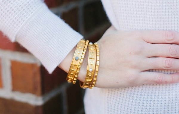 julie vos, dallas fashion blogger, cuffs, bangles,