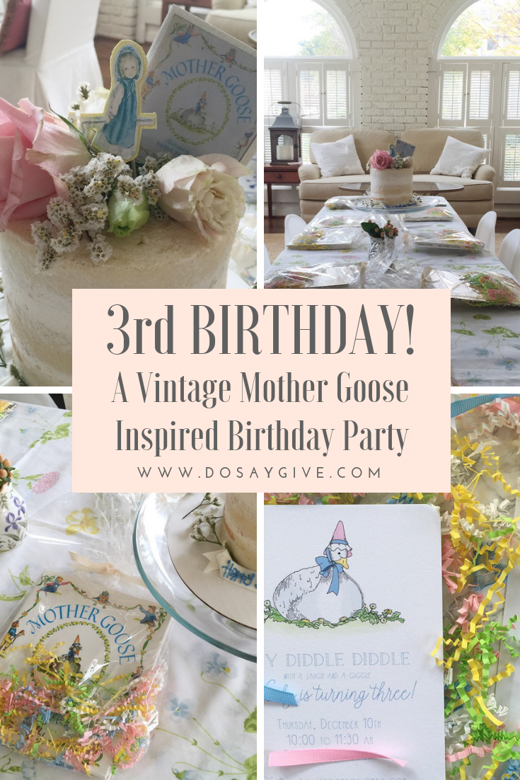 Mother Goose Birthday Party