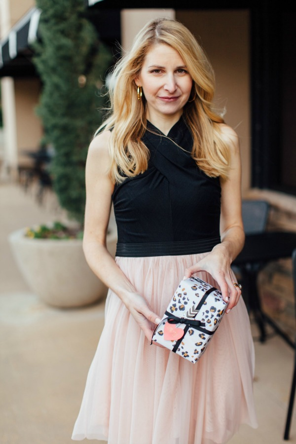 dallas blogger, anthropologie, blush, LBD, our heiday