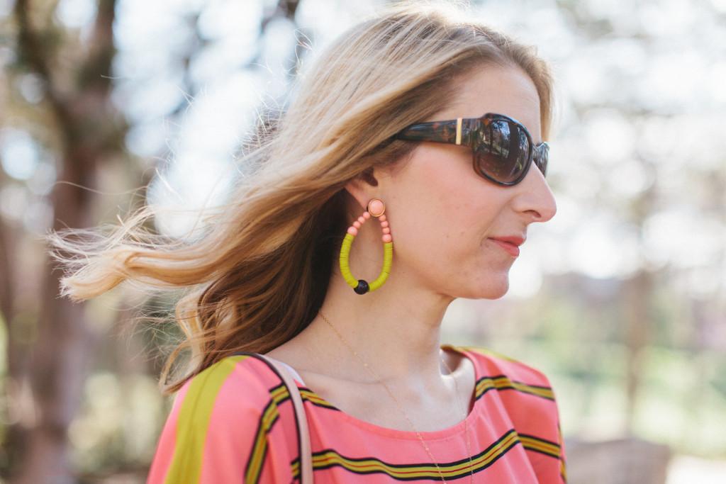 bauble bar, beaded earrings, loft, dallas blogger, spring, ootd