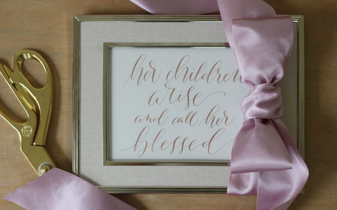 jbs calligraphy, proverbs, mothers day gift ideas