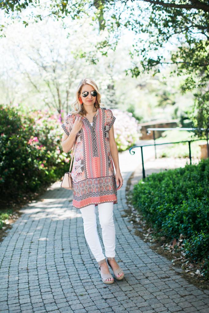 dallas blogger, nic + zoe, nordstrom, spring tunic, summer tunic,