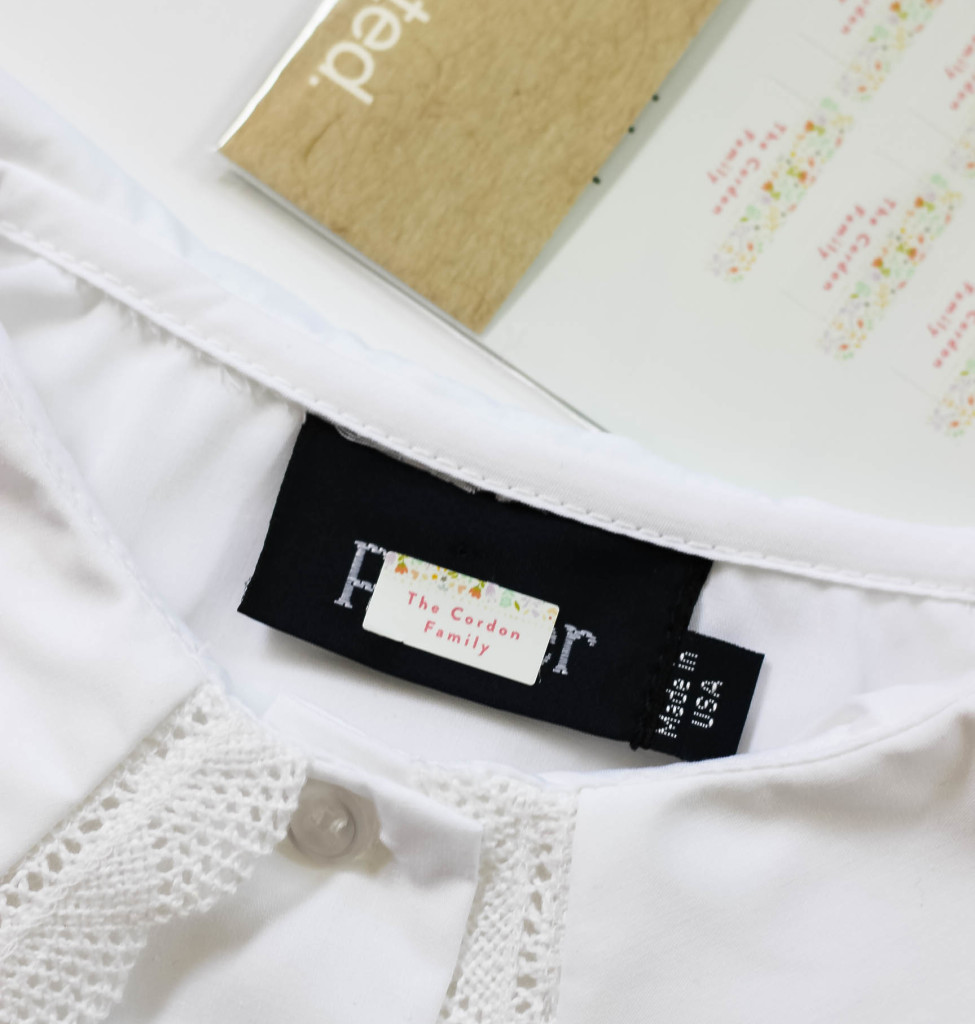 Minted clothing label