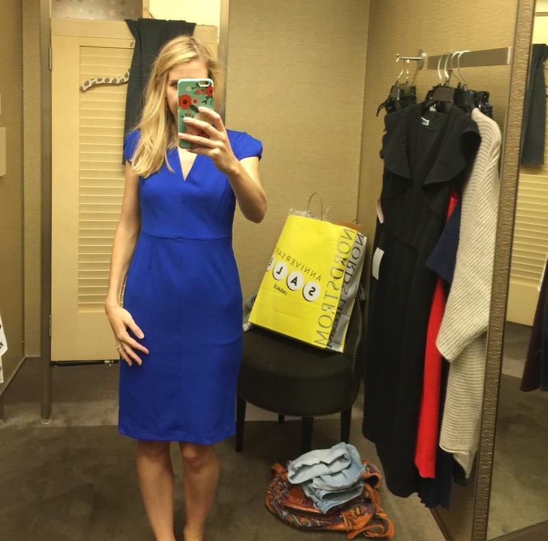 betsy johnson blue dress