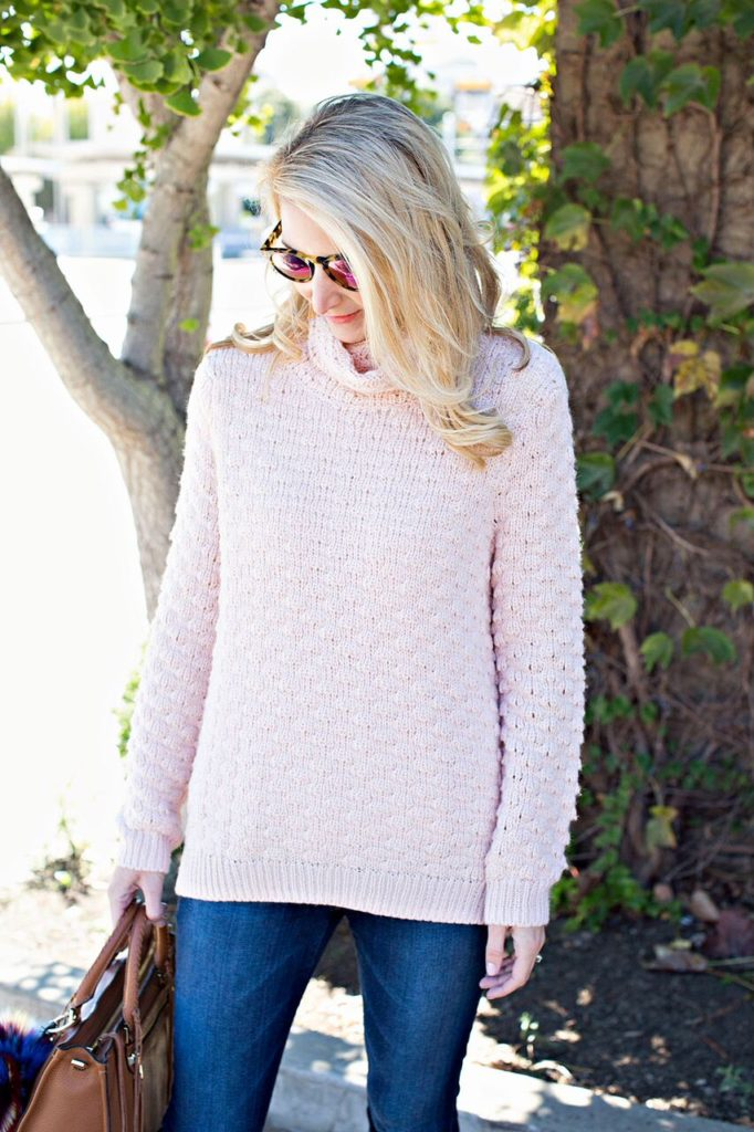 nordstrom pink sweater
