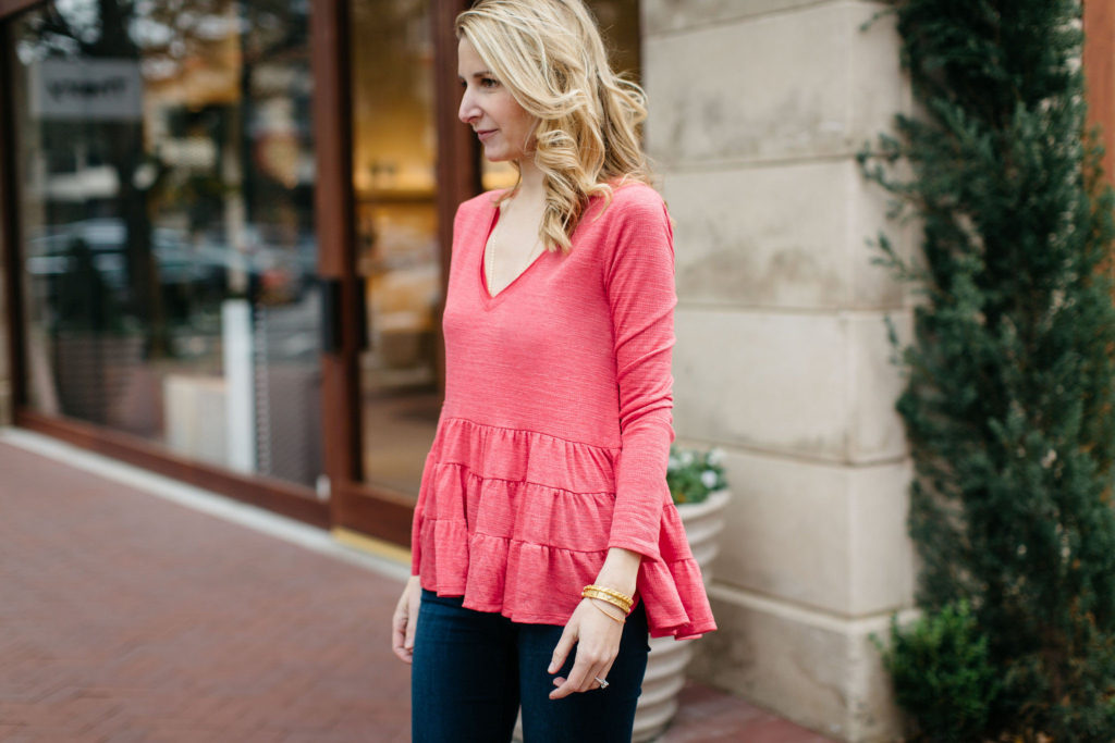 anthro ruffled top