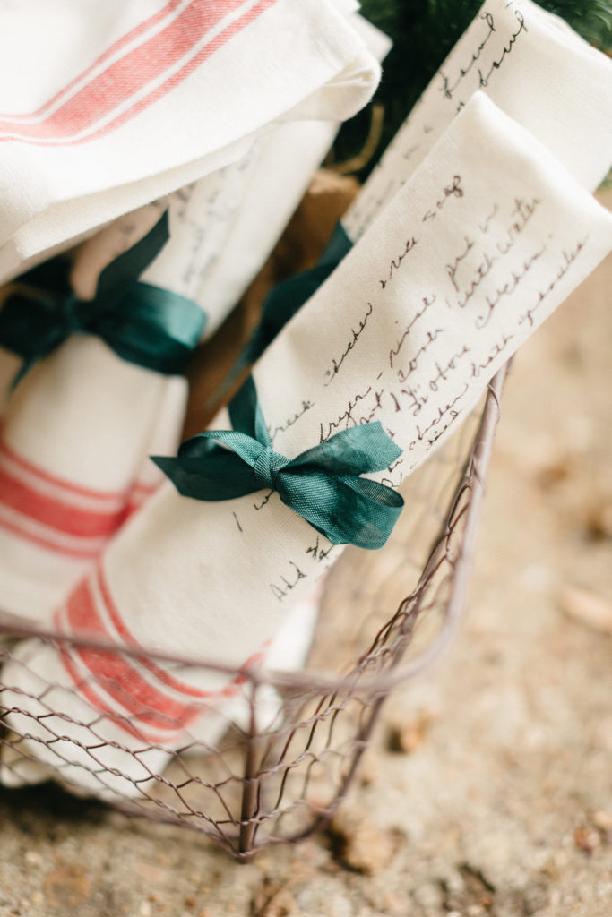 handwriting towel