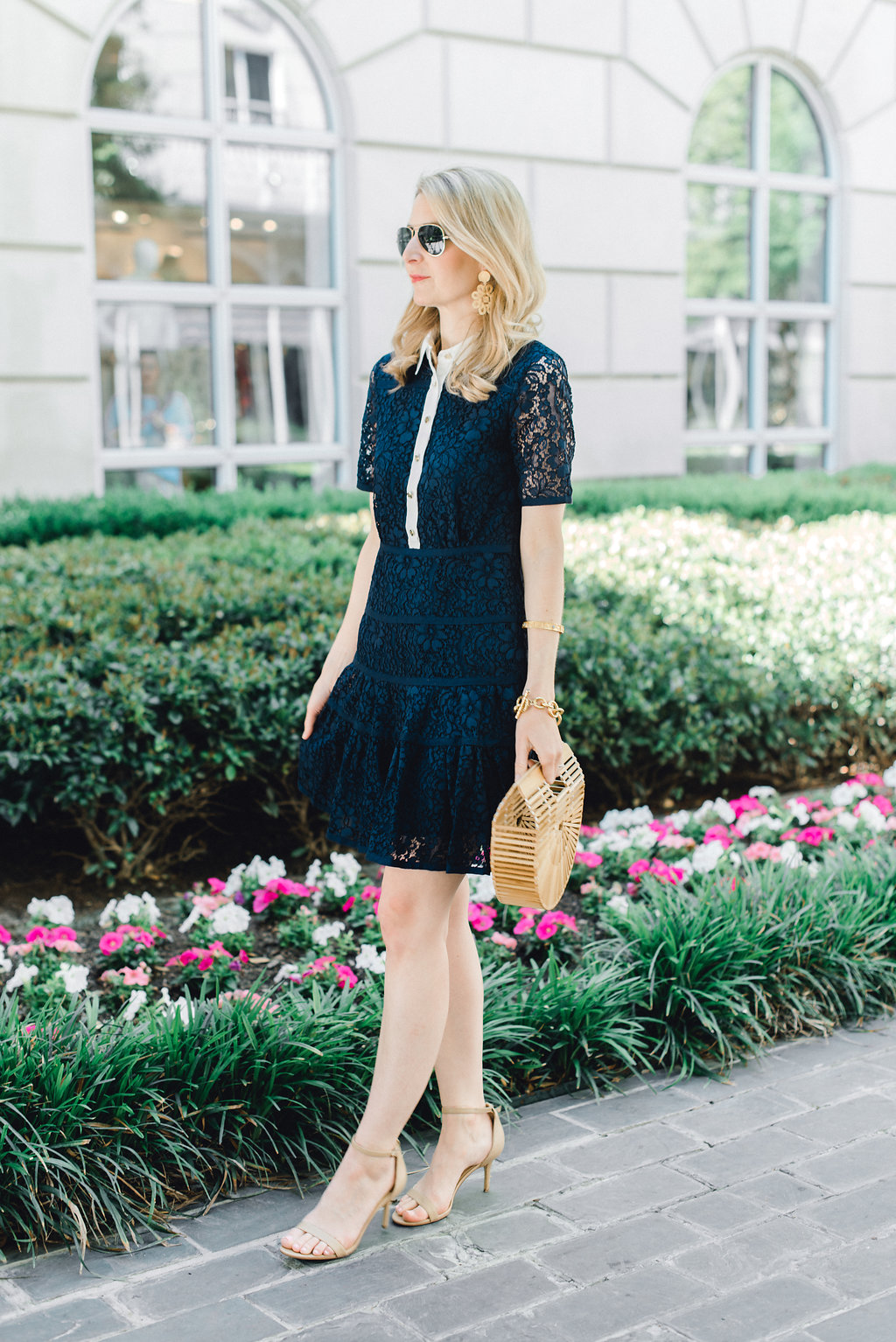 meadow lace shirt dress