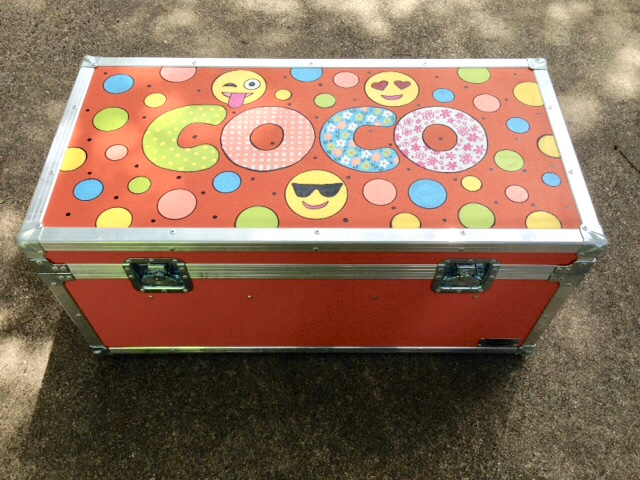 hand painted camp trunk