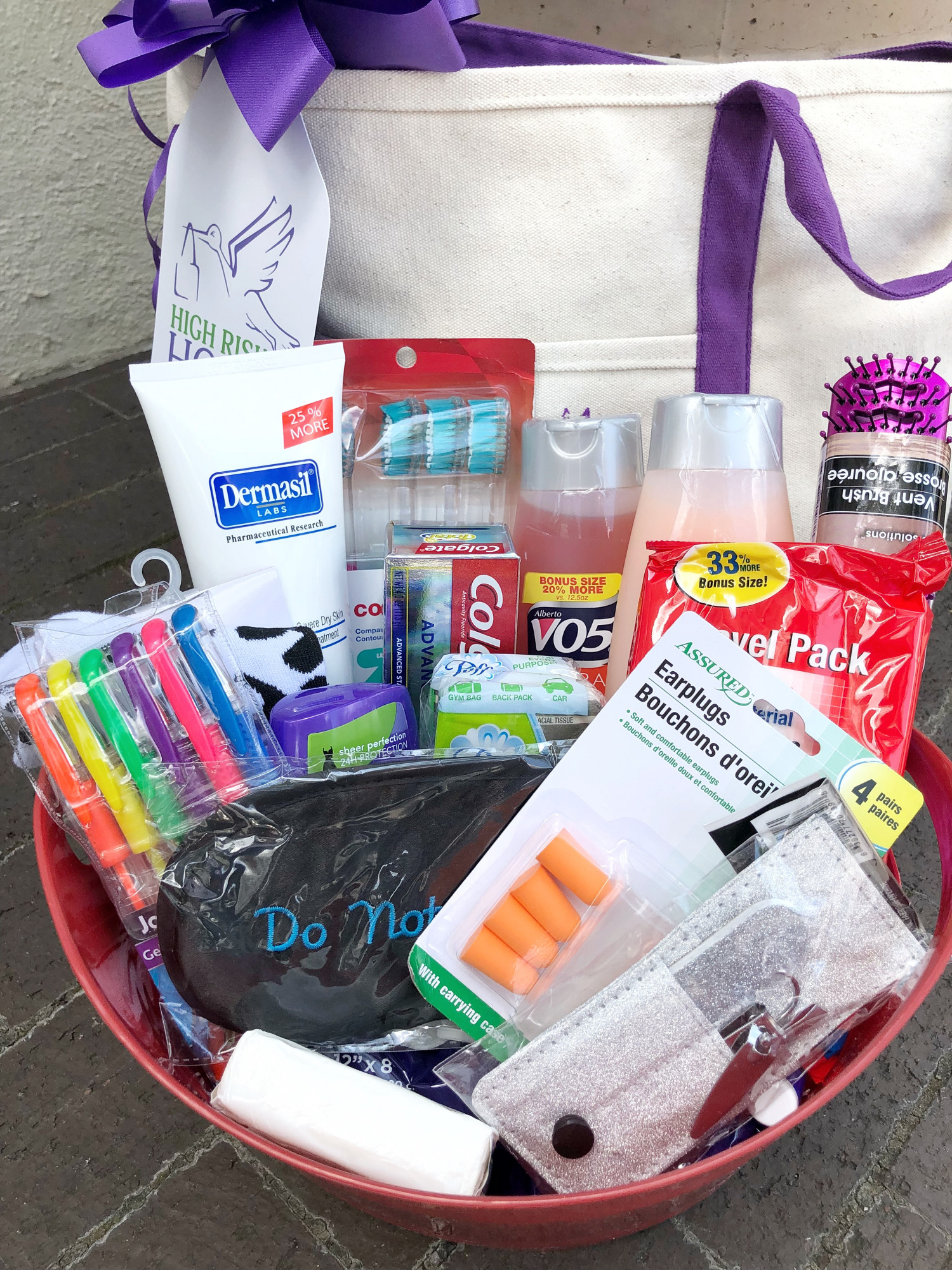 bed rest gift basket