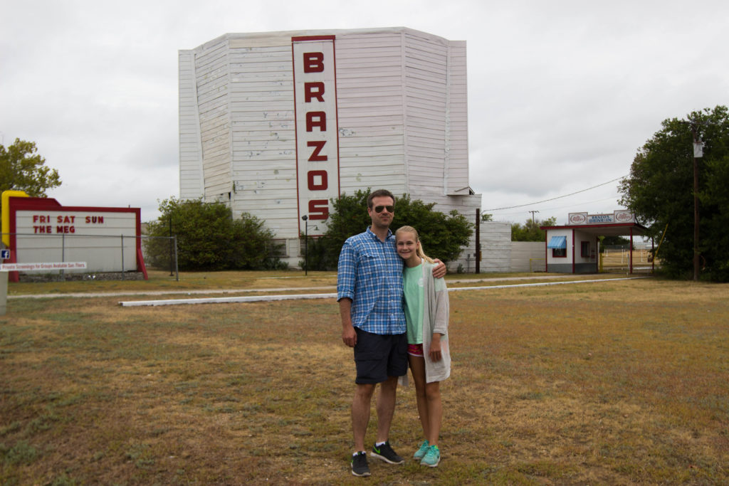 texas drive in movie theater