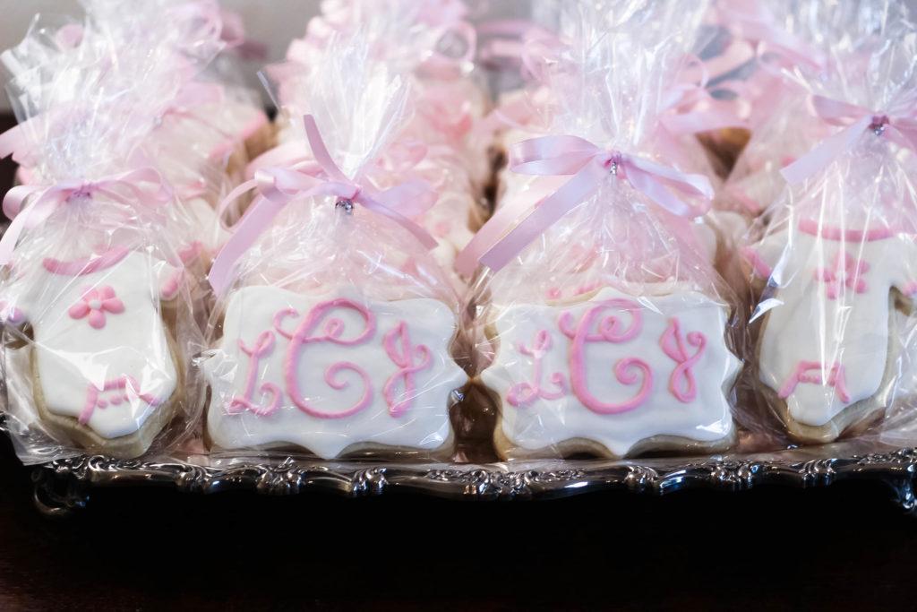 monogram cookies baby shower