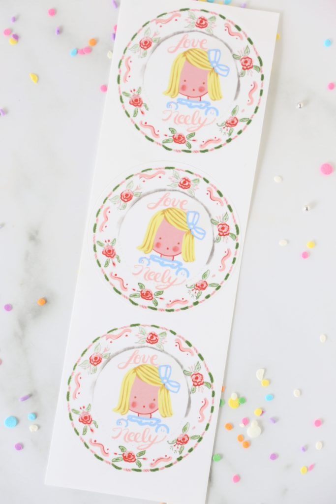 portrait gift tags