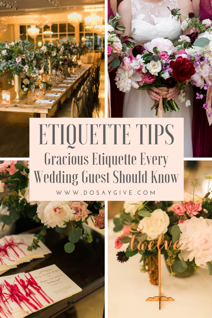 Etiquette tips for wedding guests