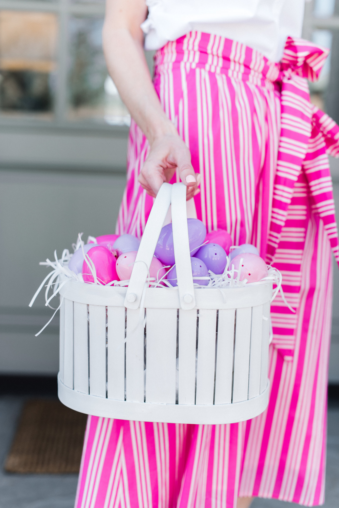 White Picket Fence Easter Basket