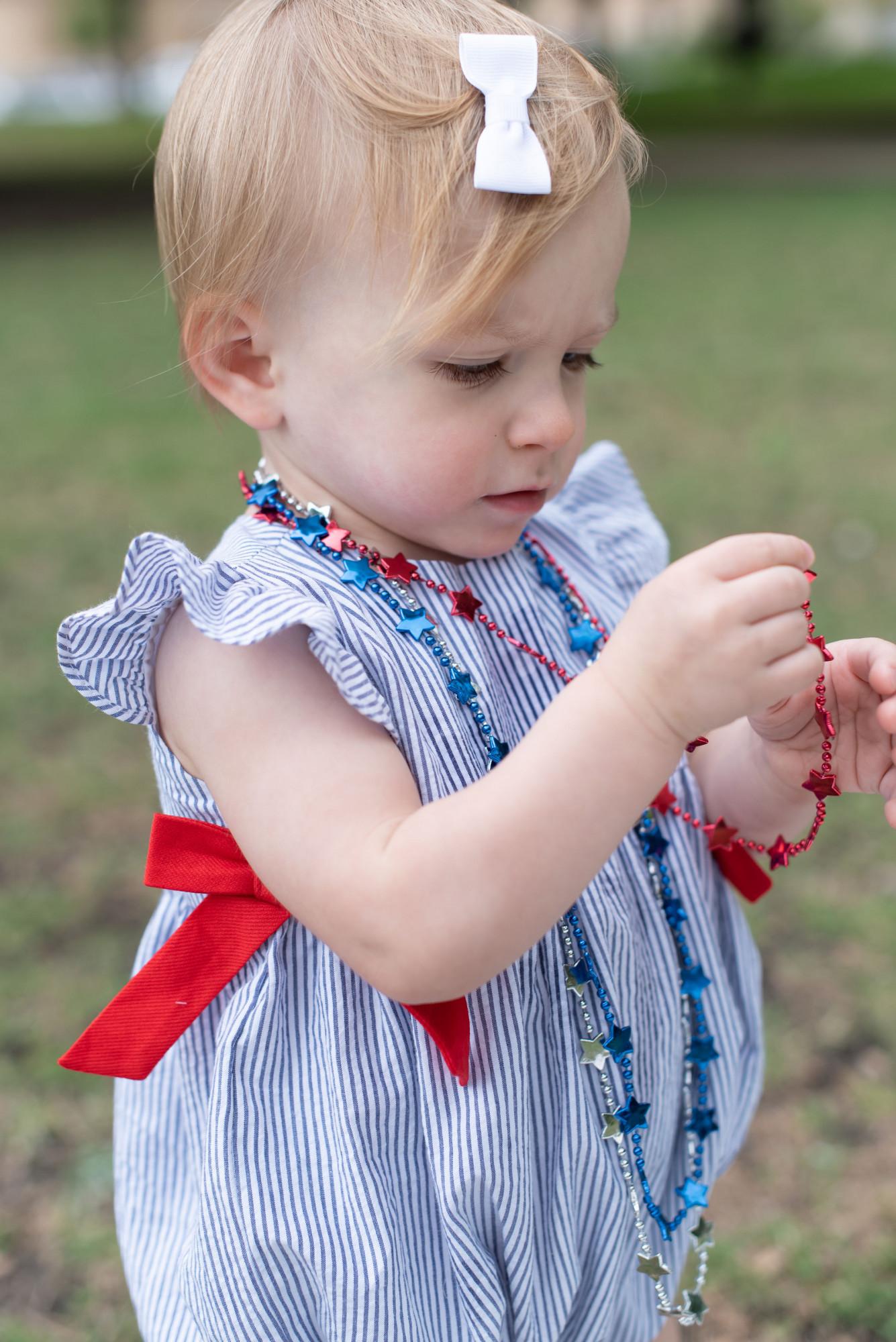 patriotic bubble baby girl