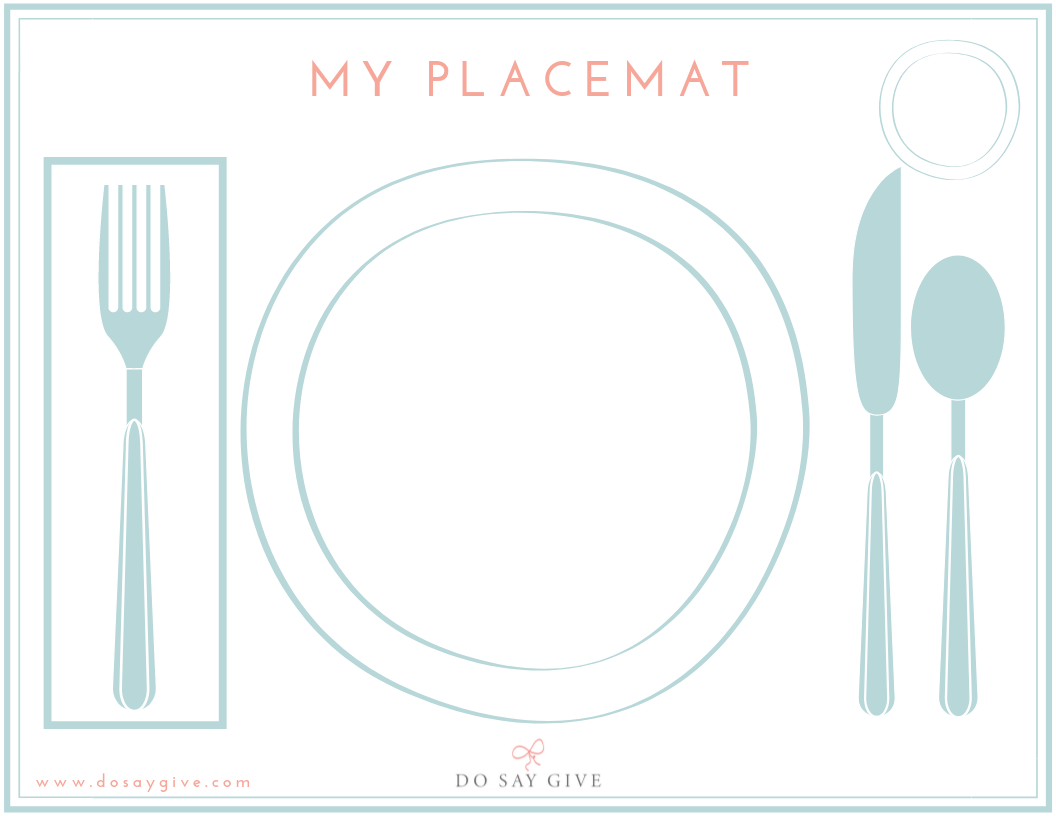 photo regarding Printable Table named DoSayGives Straightforward Desk Surroundings Printable Do Say Present