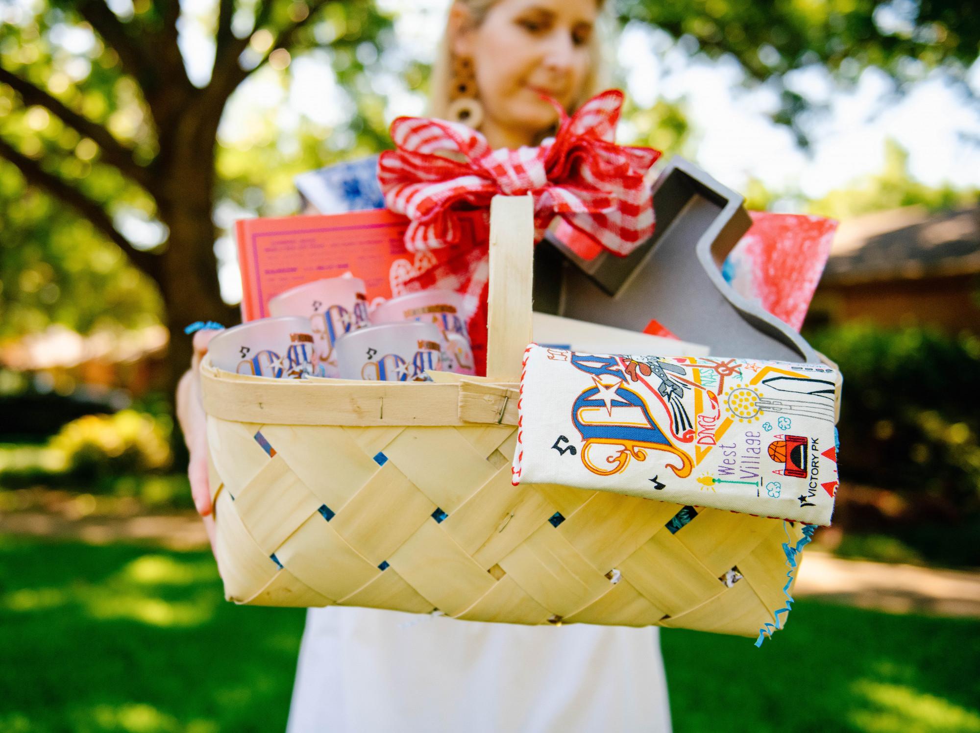 texas themed gift basket