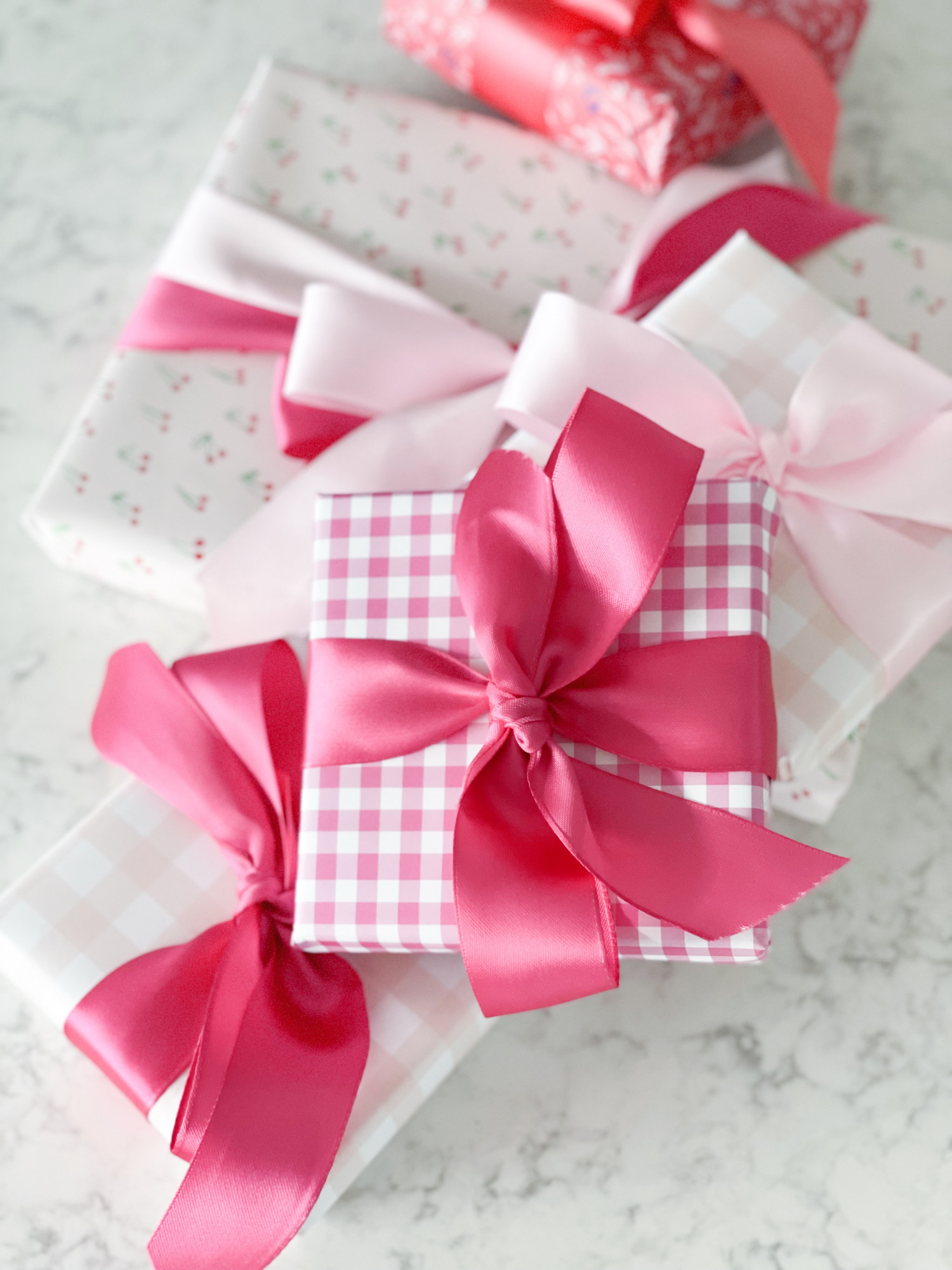 pink gingham gift